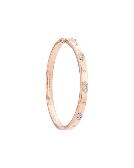 Sara Weinstock - Metallic 18kt Rose Gold Small Reverie Pear Marquis Diamond Oval Bangle - Lyst
