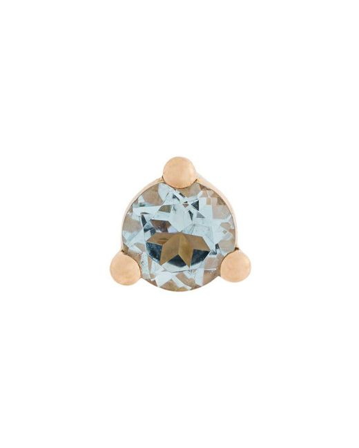 Delfina Delettrez - Yellow 18kt Gold Dots Solitaire Aquamarine And Pearl Earring - Lyst