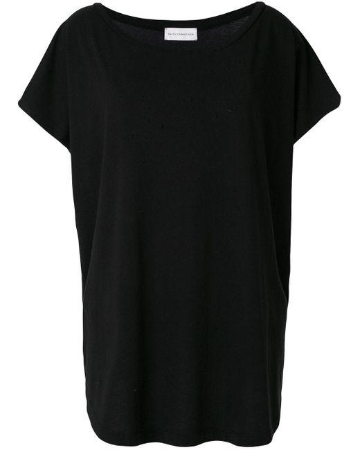 Faith Connexion ラウンドネックtシャツ Black