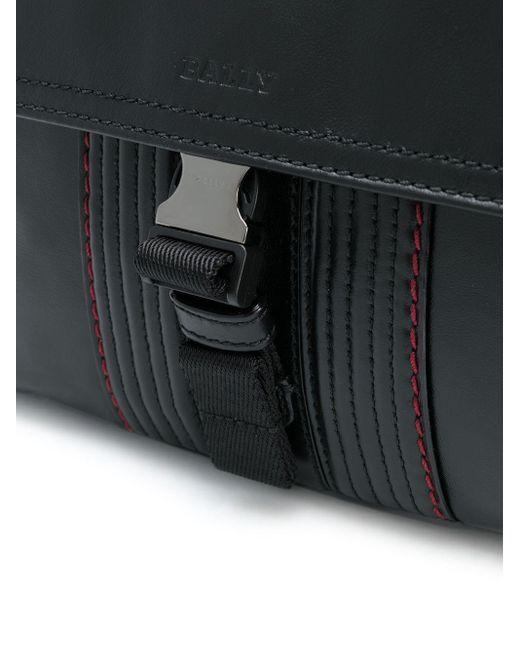 Сумка-мессенджер С Декоративной Строчкой Bally для него, цвет: Black