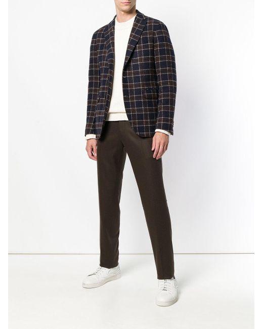Classic Tailored Chinos PT01 для него, цвет: Brown