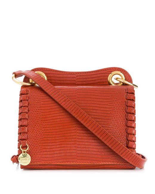 See By Chloé スネークパターン ショルダーバッグ Red