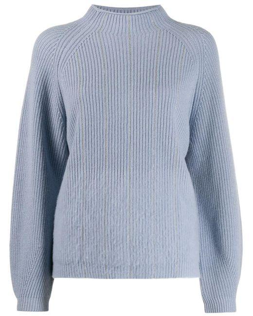 Peserico チェーントリムネック セーター Blue