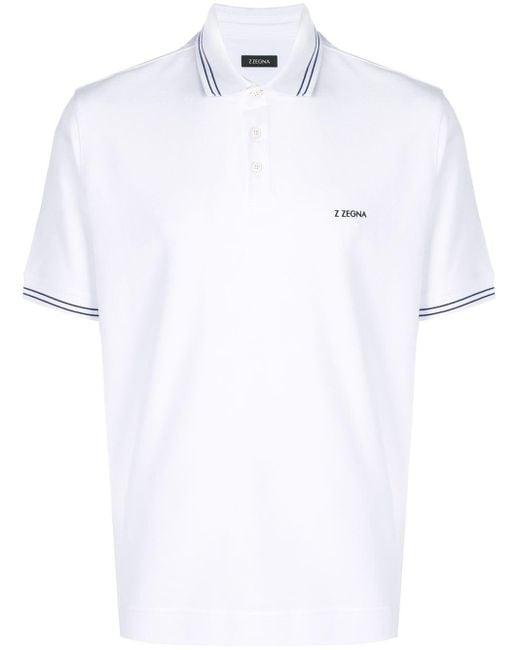 メンズ Z Zegna ポロシャツ White