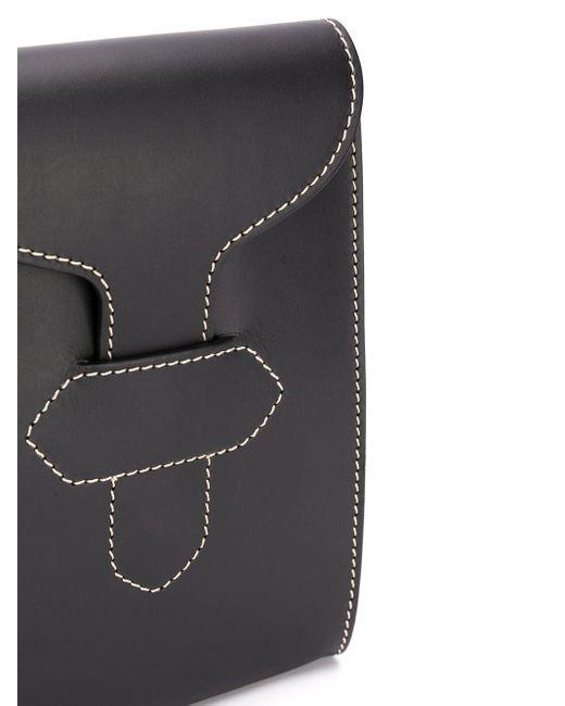 Сумка-мессенджер С Контрастной Строчкой Maison Margiela для него, цвет: Black