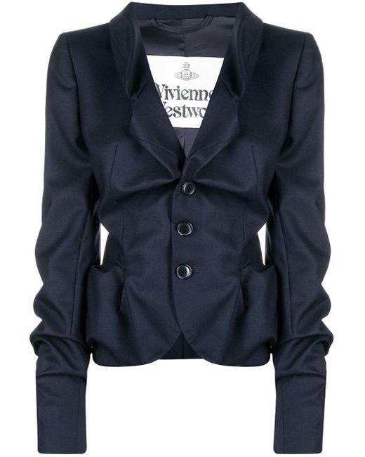 Vivienne Westwood テクスチャード ジャケット Blue