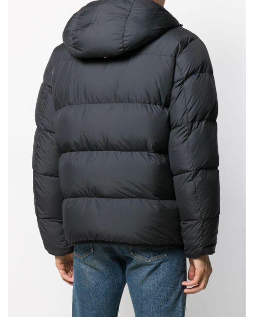 Стеганая Куртка С Капюшоном Moncler для него, цвет: Blue