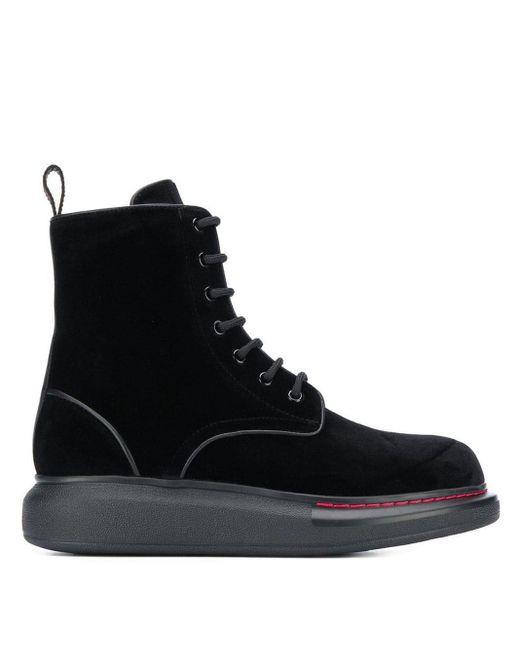 Ботинки На Массивной Подошве Alexander McQueen, цвет: Black