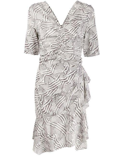 Isabel Marant シャーリング ドレス White