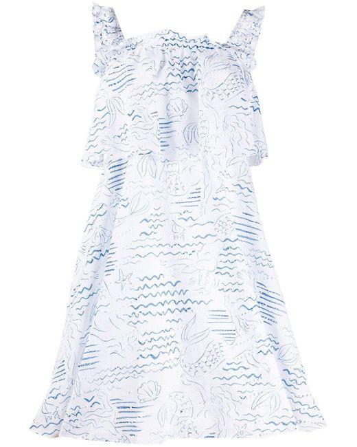 KENZO Wave Mermaid ラッフル ドレス White