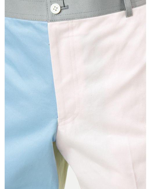 メンズ Thom Browne カラーブロックパンツ Blue