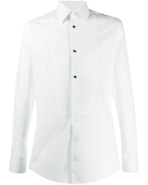 メンズ Dolce & Gabbana テーラード タキシードシャツ White