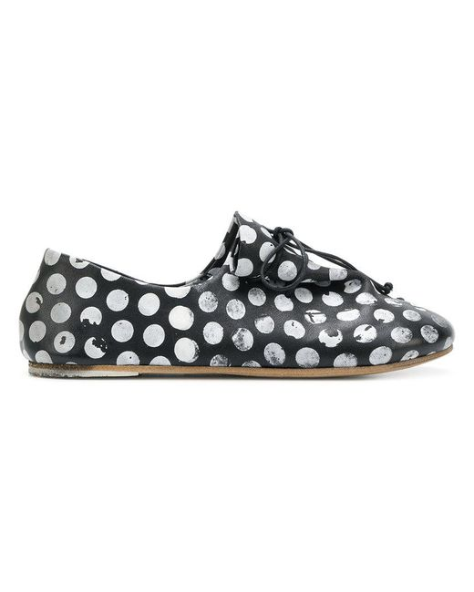 Marsèll - Black Polka Dot Lace-up Shoes - Lyst