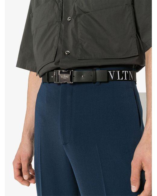 メンズ Valentino Garavani Vltn ベルト Black
