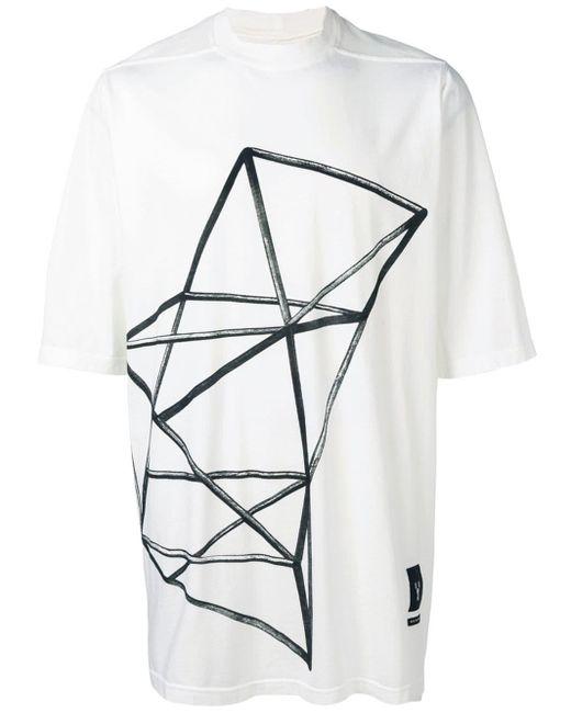 メンズ Rick Owens Drkshdw オーバーサイズ Tシャツ White