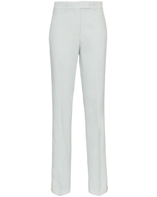 CALVIN KLEIN 205W39NYC - Blue Straight Leg Wool Trousers With Tuxedo Stripe - Lyst