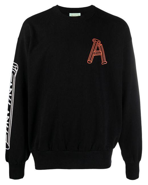 Aries モノグラム スウェットシャツ Black