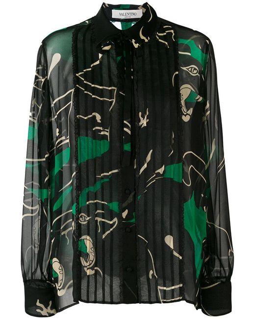 Valentino | Black Decorative Blouse | Lyst