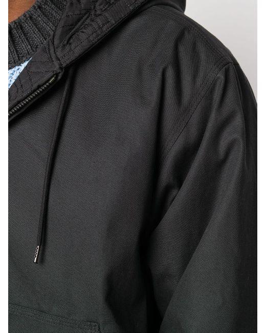 メンズ KENZO キルティング フーデッドジャケット Black