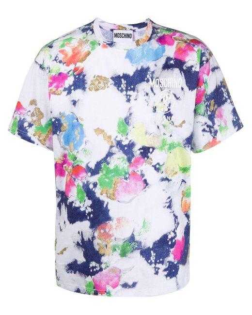 メンズ Moschino プリント Tシャツ Multicolor
