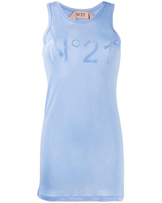 Débardeur à logo N°21 en coloris Blue