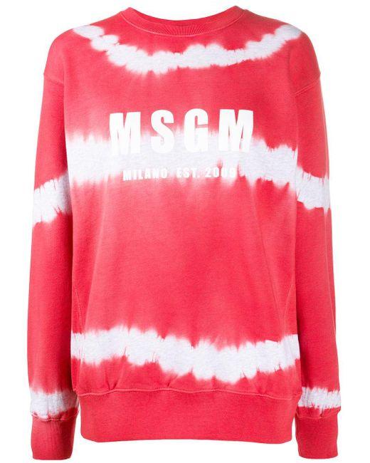 MSGM ロゴ スウェットシャツ Red