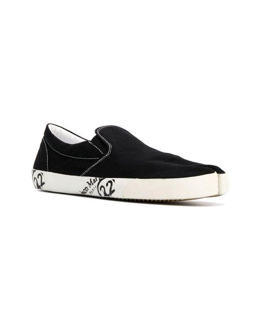 Black For Margiela Slip Men Toe Maison Lyst Tabi On Sneakers In H8Sza4q