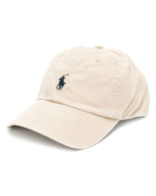 64a7a915a39 Lyst - Polo Ralph Lauren Classic Logo Cap in Natural for Men
