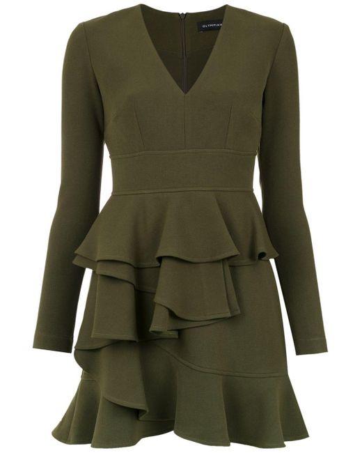 Andes Ruffled Dress Olympiah, цвет: Green