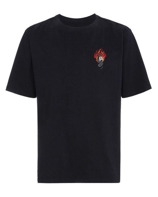 メンズ Unravel Project プリント Tシャツ Black