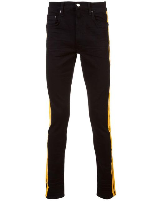 Amiri Black Side Stripe Jeans for men