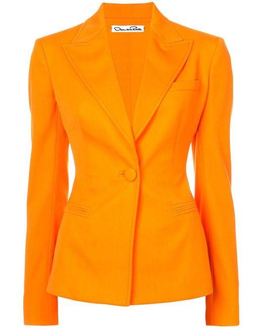 Oscar de la Renta - Orange Fitted Blazer - Lyst