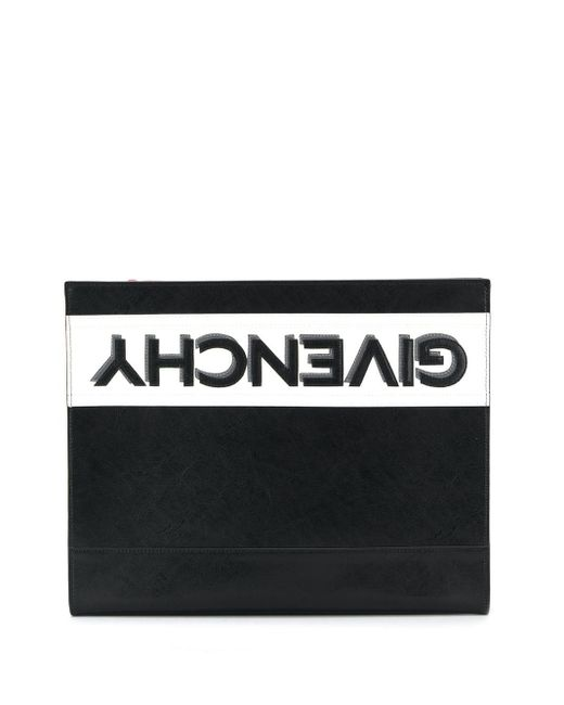 Givenchy Black Reverse Logo Pouch for men