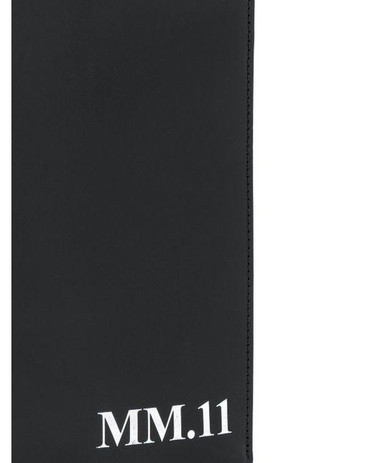 メンズ Maison Margiela Mm.11 レザーフォンポーチ Black