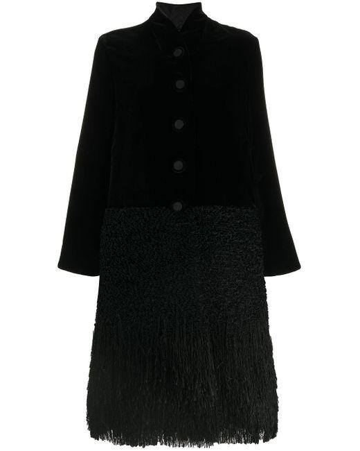 Giorgio Armani ベルベット シングルコート Black