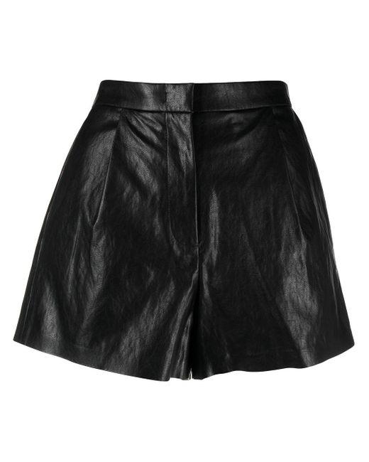 Pinko Black Leatheret Shorts