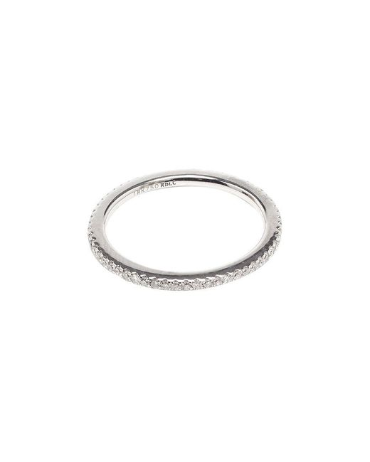 Rosa De La Cruz   18k White Gold & Diamond Midi Ring   Lyst