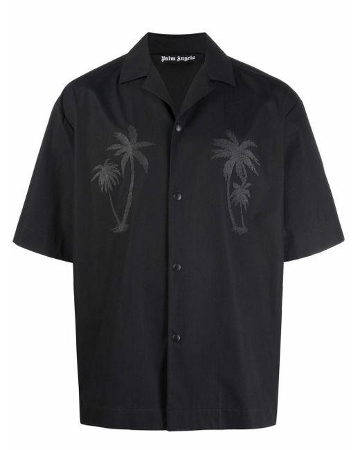 メンズ Palm Angels X Team Wang ボーリングシャツ Black