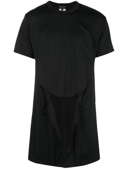 メンズ Comme des Garçons カットアウト Tシャツ Black