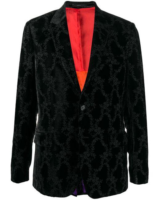 メンズ Paul Smith ジャカード シングルジャケット Black