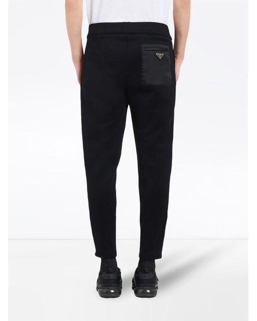 Pantalon de jogging classique Prada pour homme en coloris Black
