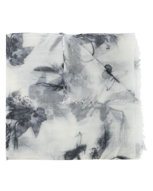 Brunello Cucinelli カシミア プリント スカーフ White