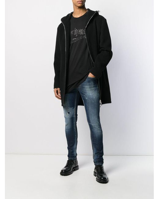 T-shirt Staircase John Richmond pour homme en coloris Black