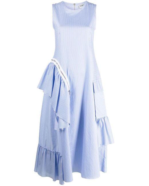 Iceberg Blue Kleid mit Rüschen