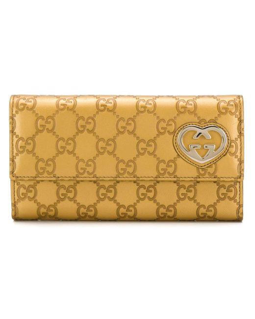 Gucci Metallic GG Motif Wallet