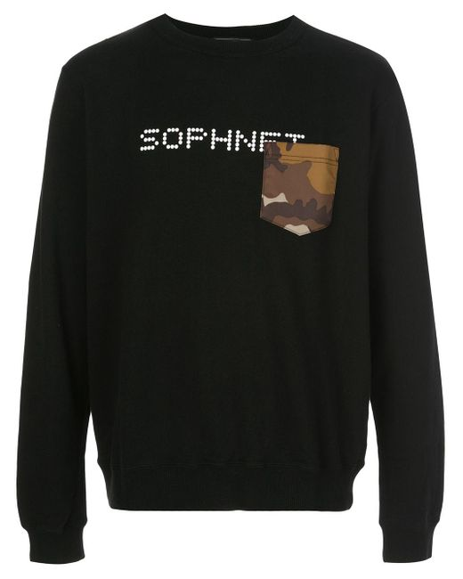 メンズ Sophnet ロゴ スウェットシャツ Black