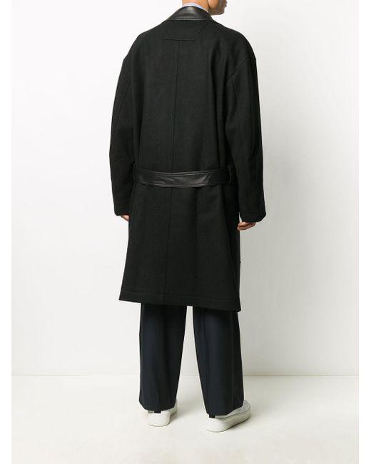 メンズ Juun.J オーバーサイズ レイヤードコート Black
