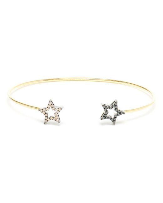 Rosa De La Cruz   Black Diamond Double Star Bangle   Lyst