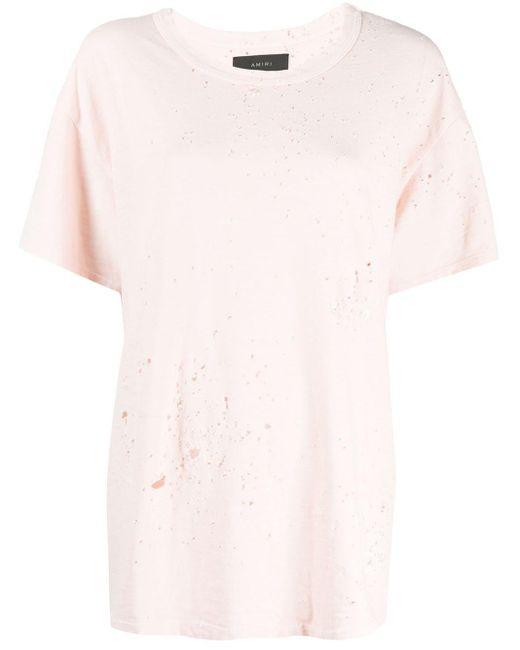 Amiri Shotgun Tシャツ Pink