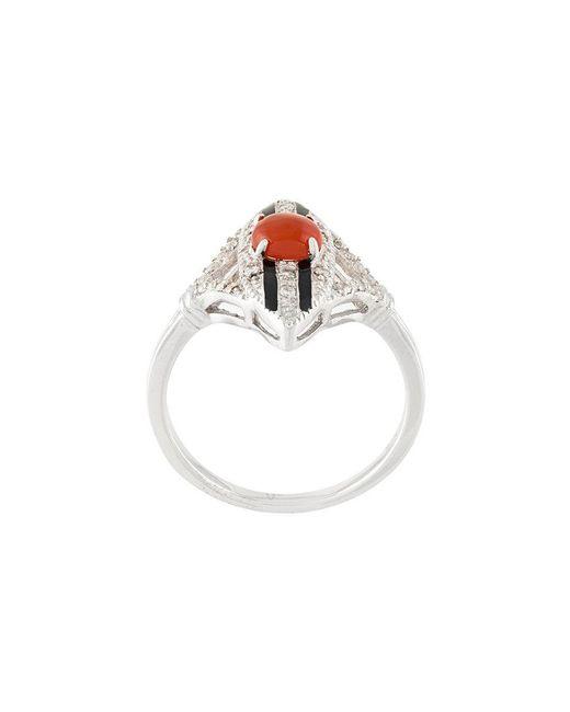 V Jewellery - Metallic Scarlett Ring - Lyst